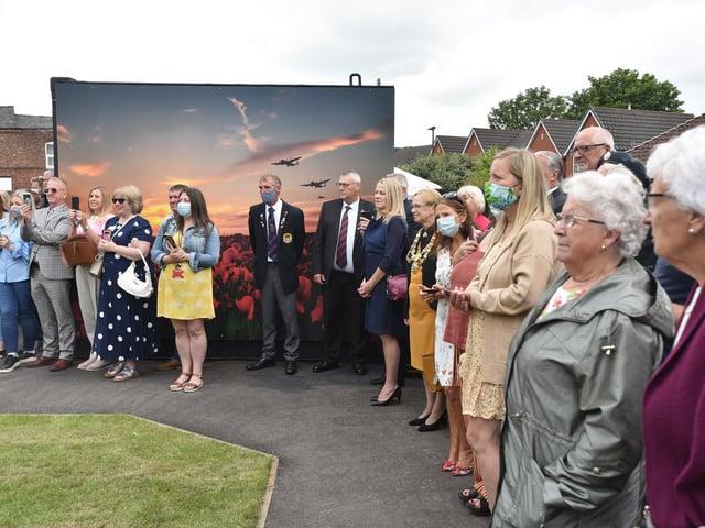 The opening of Hindley Veterans Memorial Garden