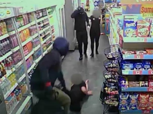 CCTV from one of the shop raids