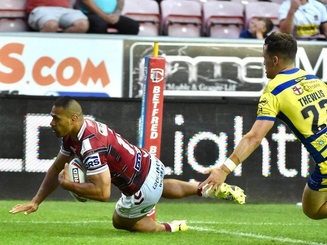 Willie Isa goes over for a second-half try