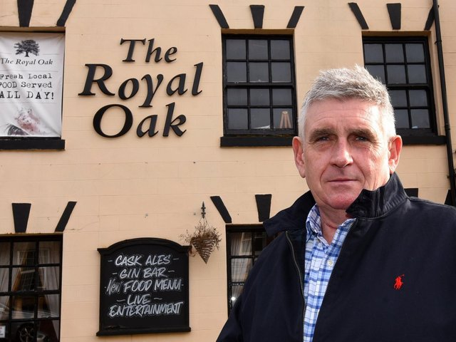 Tony Callaghan outside the Royal Oak