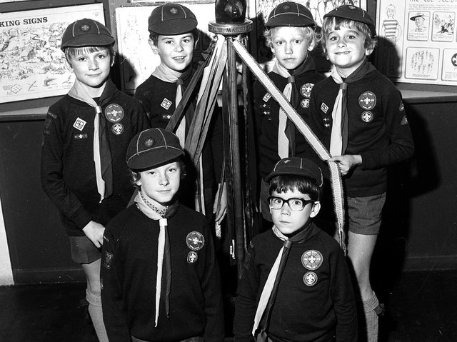 St John's Cub Scouts in Wigan in 1976