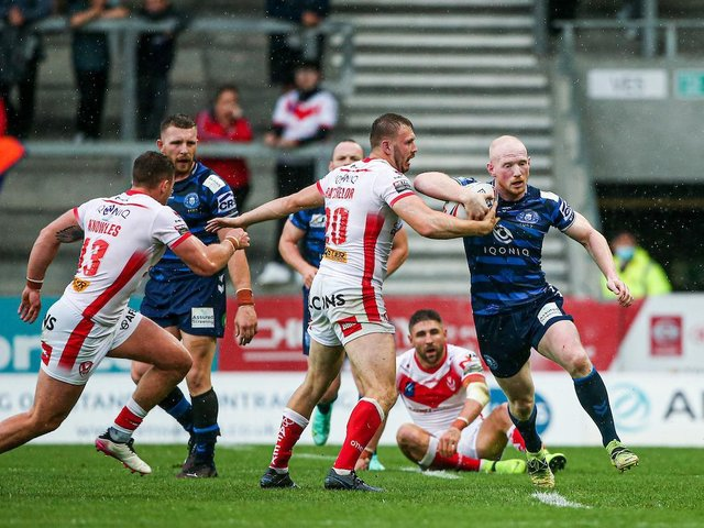 Liam Farrell scored a try for Wigan