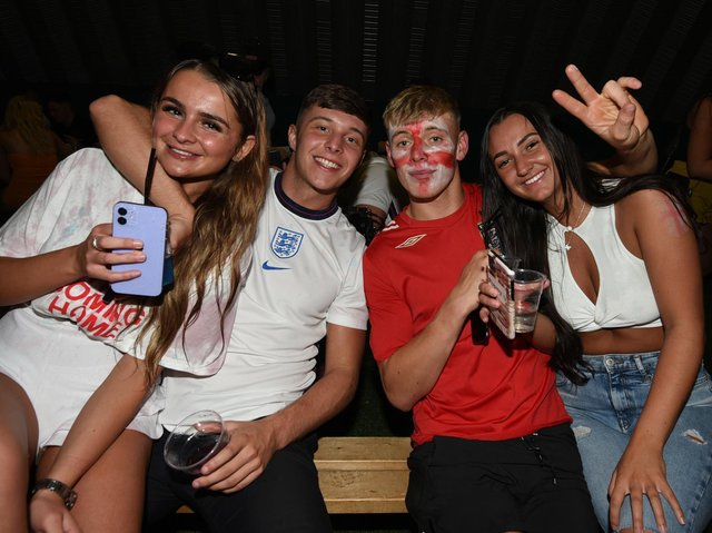 England fans after the match