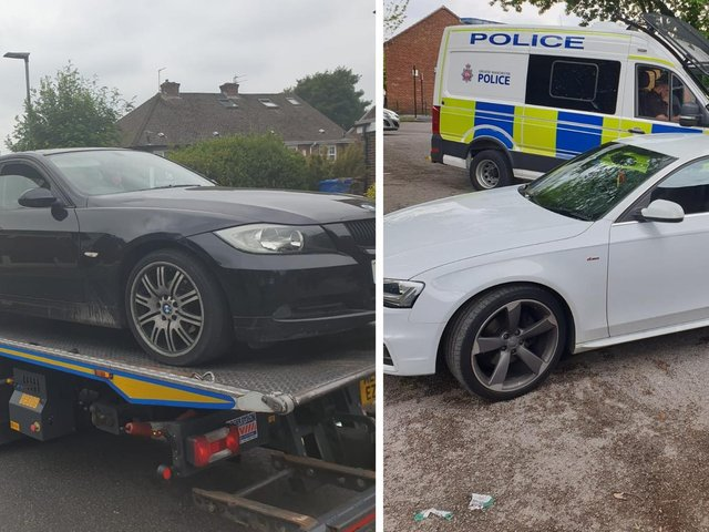 Cars seized in Ince