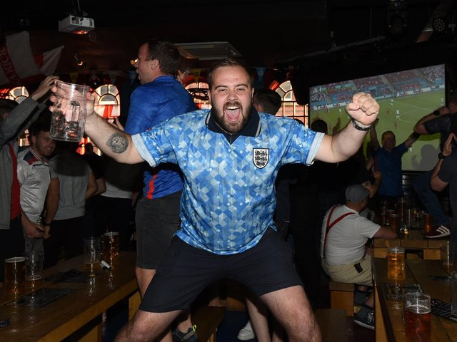 England fans at Party Haus, King Street celebrate the win
