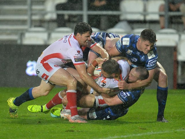 Action from the derby