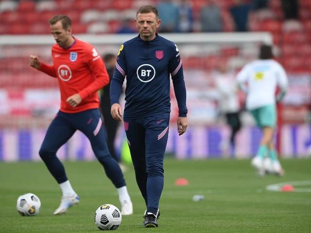 Graeme Jones on England duty
