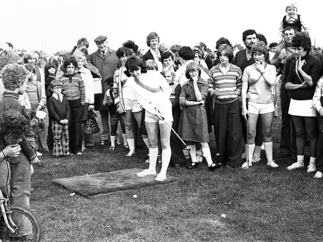 Aspull's version of the popular TV show 'It's a Knockout' in 1976