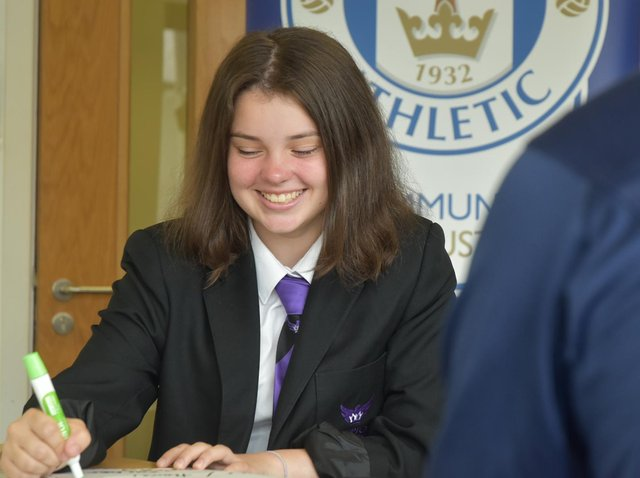 Atherton High School pupil Jasmine Marland says the Latics Trust's Premier League Inspires programme helped improve her mental health