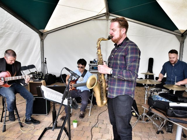 The recent outdoor jazz gig at Haigh Woodland Park