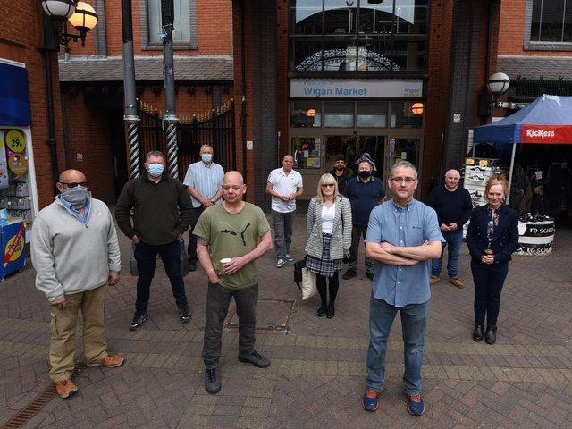 Market traders are unhappy about the plans to redevelop The Galleries