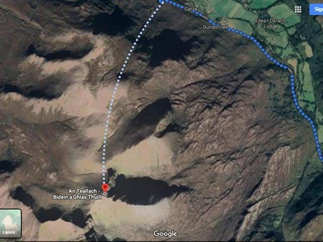 A dangerous 'route' up An Teallach