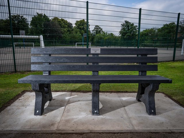 New benches have been installed in parks across Wigan made out of plastic plant pots