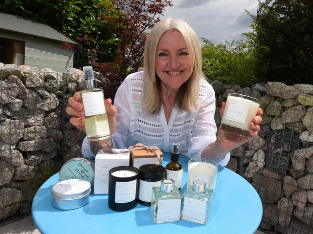 Jane Thorpe with her products