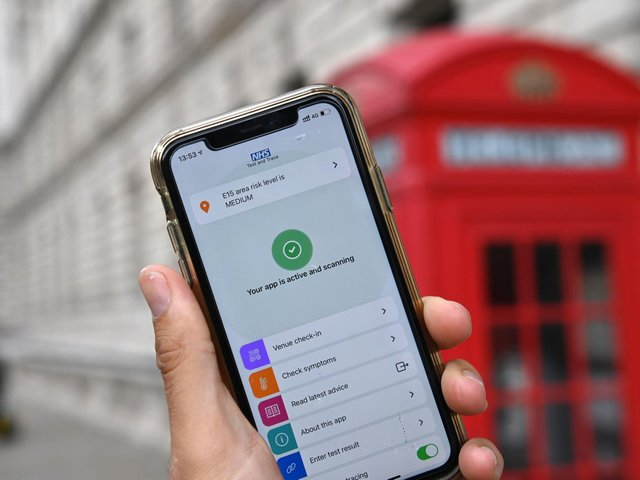 The app sent 530,126 alerts in England and Wales during the first week of July
