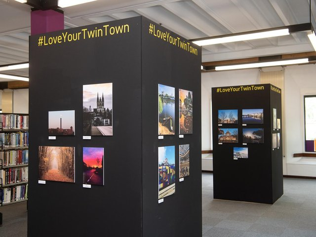 The photography exhibition in Leigh Library