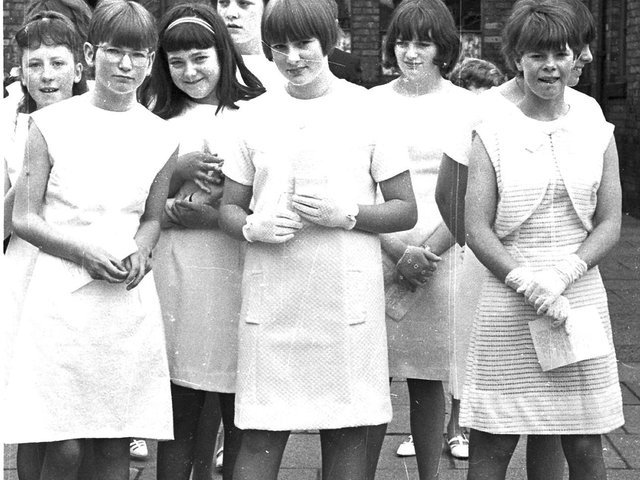 St Paul's Church in Goose Green holds its walking day in 1966