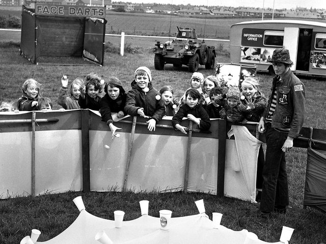 RETRO 1972 Youngsters try out the attractions ready for the annual carnival at Orrell Rugby Union Club