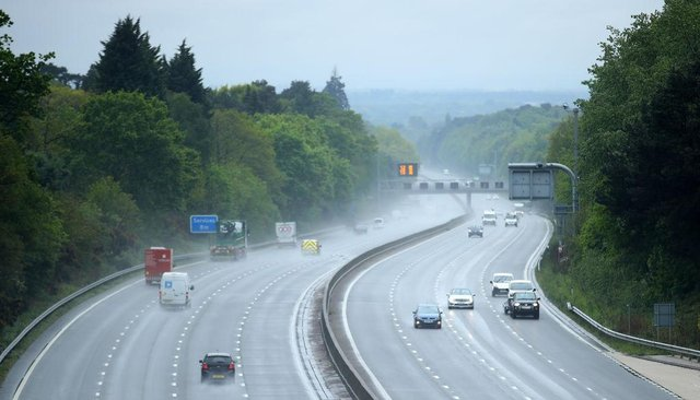 The M3 is among stretches of smart motorway with no hard shoulder